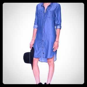 Rails long-sleeve chambray tunic